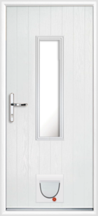 Pembroke composite doors with catflaps