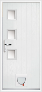 Hampshire composite doors with catflaps