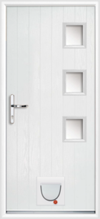 Warwick composite doors with catflaps