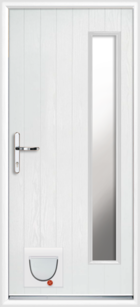 Gwynedd composite doors with catflaps