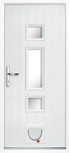 Hampton composite doors with catflaps