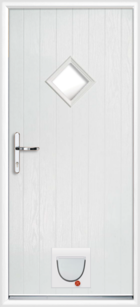 Suffolk composite doors with catflaps