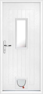 Cumbria composite doors with catflaps