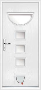 Durham composite doors with catflaps