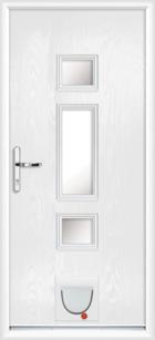 Hampton composite doors with catflaps