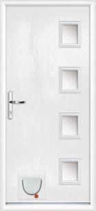 Hertford composite doors with catflaps