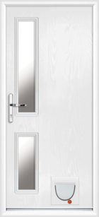 Lancashire composite doors with catflaps