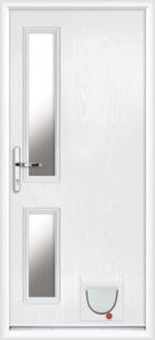 Lancashire composite doors with catflaps