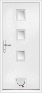 Lincoln composite doors with catflaps