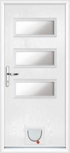 Newport composite doors with catflaps
