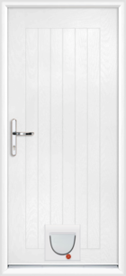 Norfolk composite doors with catflaps