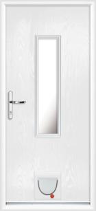 Pembroke composite doors with catflaps