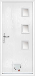 Warwick composite doors with catflaps