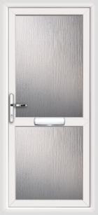 Fully glazed upvc front doors
