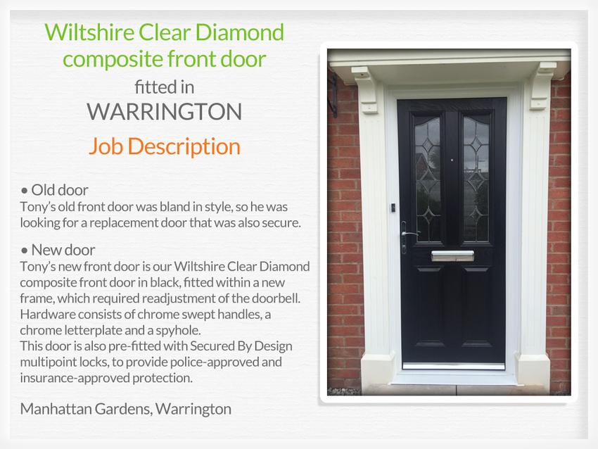 Composite front door fitting in Warrington ...
