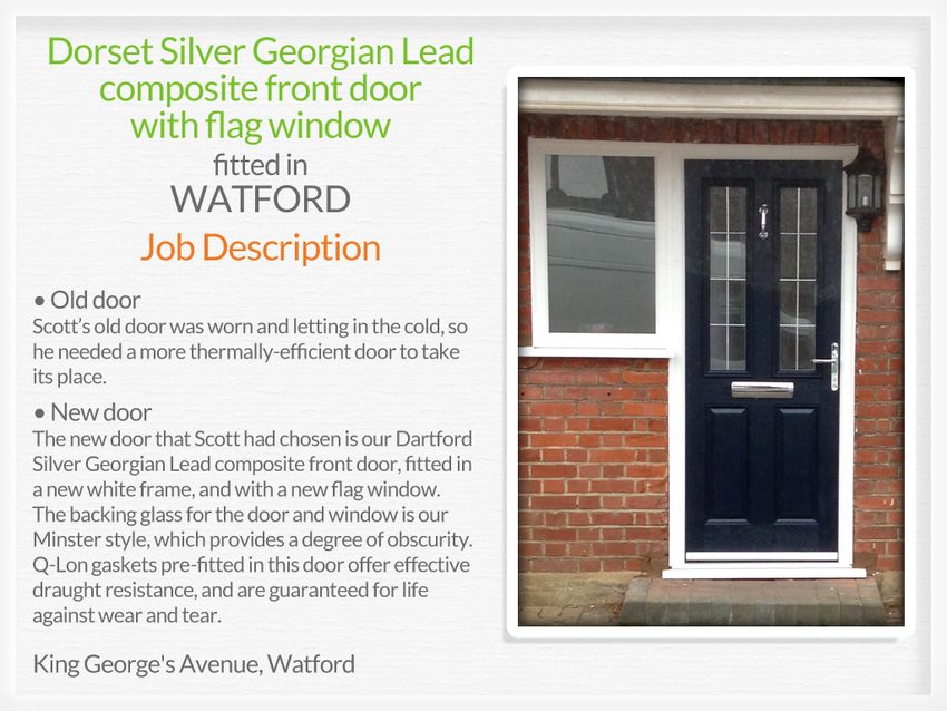 Composite front doors watford for Exterior doors fitted