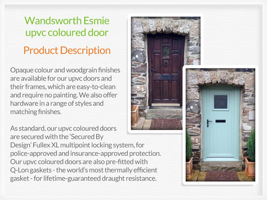 Coloured upvc doors benfleet for Coloured upvc front doors