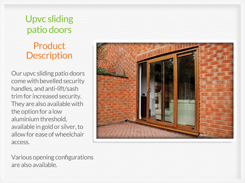 Collection Upvc Sliding Patio Doors For Sale Pictures Losro