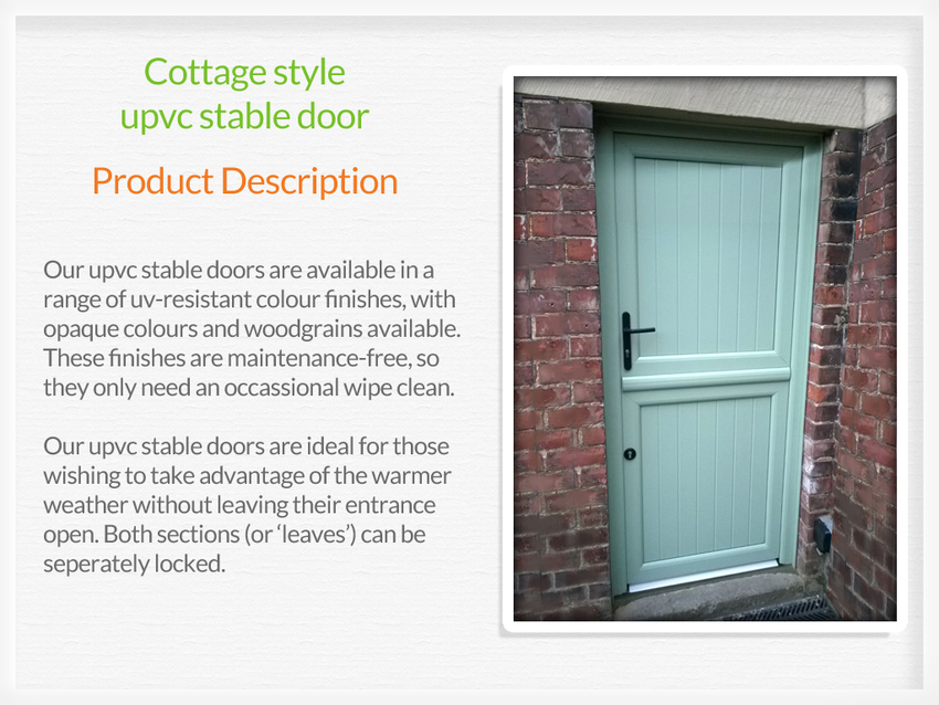 Upvc Stable Doors Ashby De La Zouch