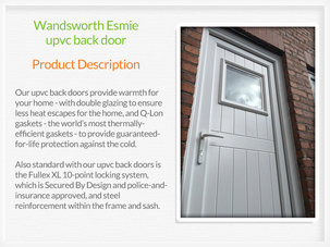 Upvc back door installer in Clydebank