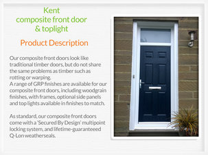 Composite front door installation in Royton