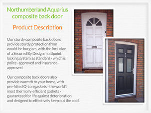 Composite back doors Whitefield