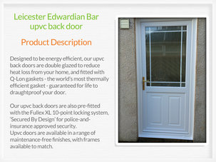 Upvc back doors supplied and fitted in Bishopbriggs