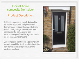 Composite front door fitting in Tyldesley