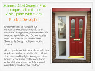 Composite front door fitting in Troon