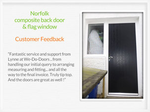 Composite back door fitting in Johnstone