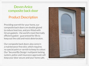 Composite back door supply and installation in Port Glasgow