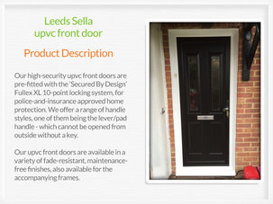 Pvc-u front doors supplied and installed in Lees