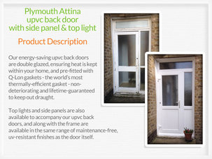 Upvc back doors Alexandria