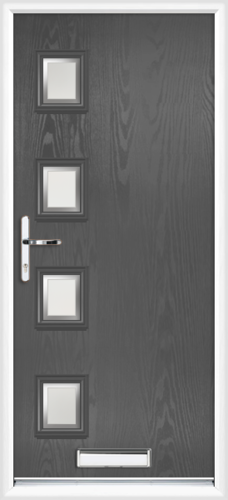 abc0810ba3e07 anthracite grey Gloucester kensington composite front door. £1131.00. Fully  Fitted. Gloucester kensington