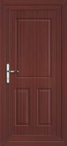 Mahogany bromley solid fully fitted upvc back door for Solid back doors