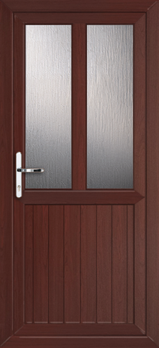Rosewood cardiff melody fully fitted upvc back door for Back doors fitted