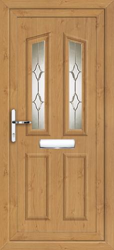 Irish oak croydon kiel fully fitted upvc front door for Upvc front doors fitted