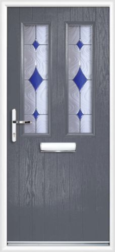 Dartford blue diamond for Slate blue front door