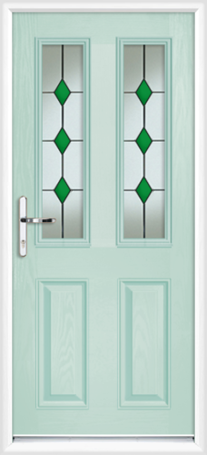 Duck egg blue fully fitted dorset composite back doors for Back doors fitted