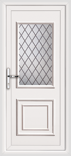 White ealing classic diamond lead supply only upvc back door for White back door