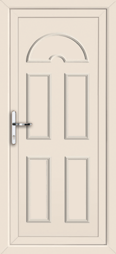 Cream enfield solid supply only upvc back door for Solid back doors