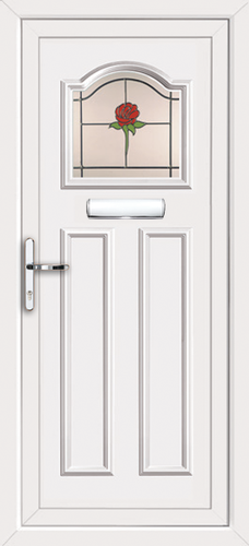 White fully fitted glasgow upvc front doors for Upvc front doors fitted