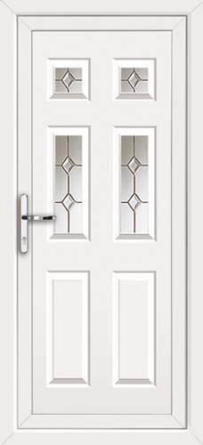 White fully fitted harrow upvc back doors for Upvc back doors fitted