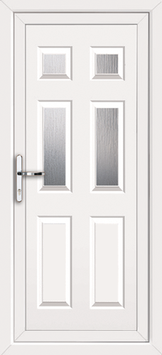 White fully fitted harrow upvc back doors for Back doors fitted