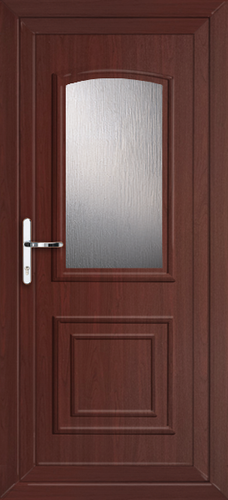 Rosewood hillingdon classic glazed fully fitted upvc back door for Back doors fitted
