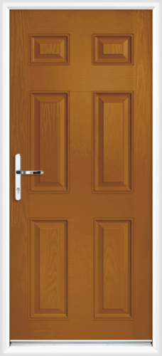 Oak fully fitted kent composite back doors for Back doors fitted
