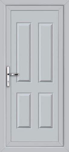 Light grey leeds solid supply only upvc back door for Solid back doors