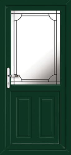Green fully fitted leicester upvc back doors for Back doors fitted