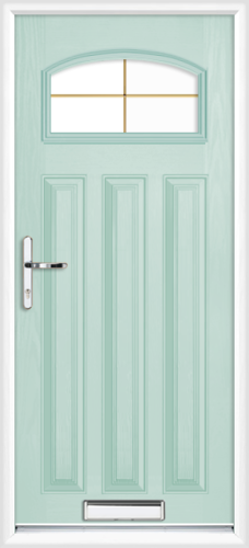 Duck egg blue london gold georgian fret supply only for Duck house door size