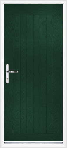 Green fully fitted norfolk composite back doors for Back doors fitted